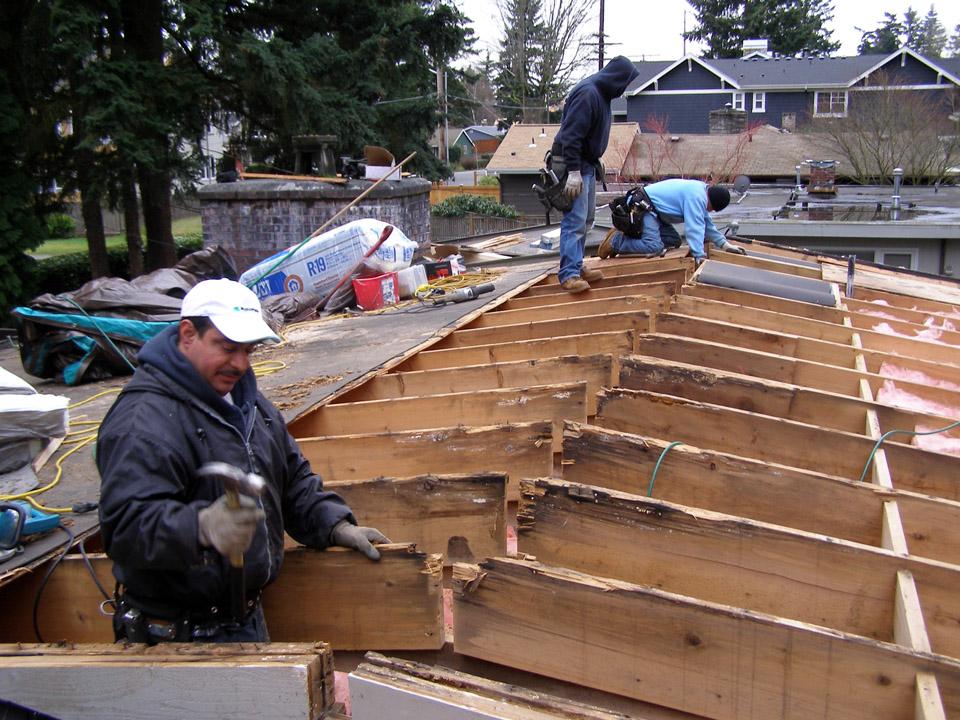 Hillside Roofing Rot Repair